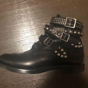 Saint Laurent Shoes - Saint Laurent Paris Rangers ankle boots